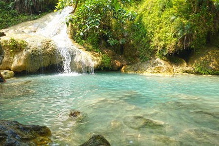 Erawan Waterfall. The most popular places in Kanchanaburi Province, Thailand
