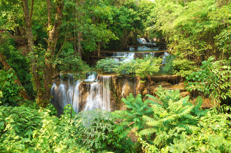 khamin: Huai Mae Khamin Waterfall. The most popular places in Kanchanaburi Province, Thailand