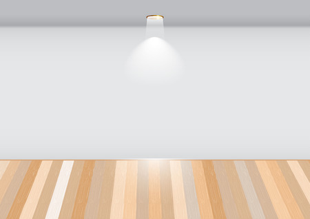 Empty room with wooden floor.