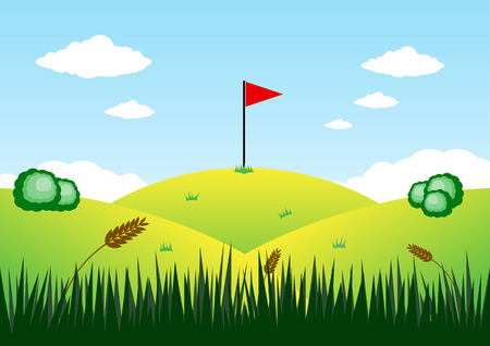 superacion personal: Bandera de la ilustraci�n de la monta�a