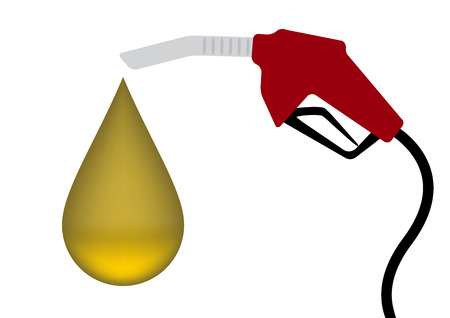 Red Fuel nozzle with yellow drop