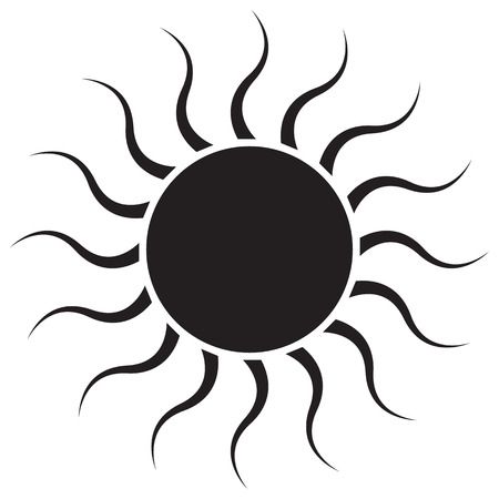 Black Sun on white background Illustration Illustration