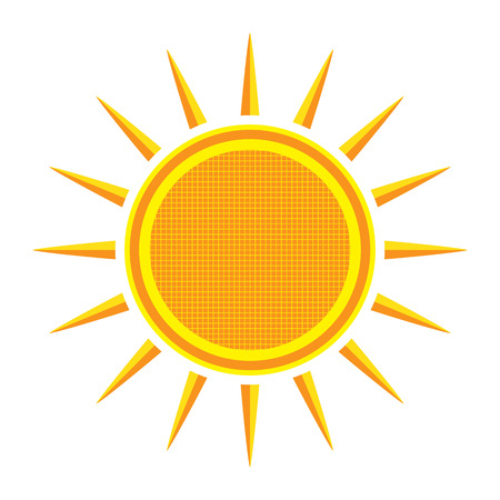 Sun on white background Illustration Illustration