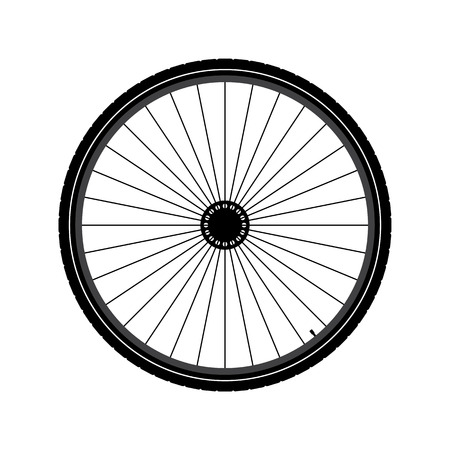 Bicycle wheel Illustration Vectores