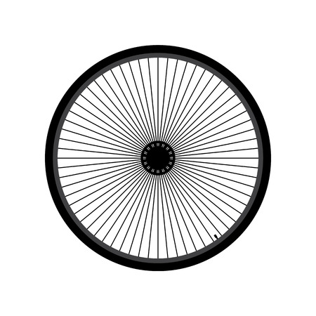 Bicycle wheel Illustration Illustration