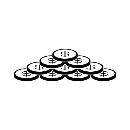us coin: Monedas del dinero Ilustraci�n