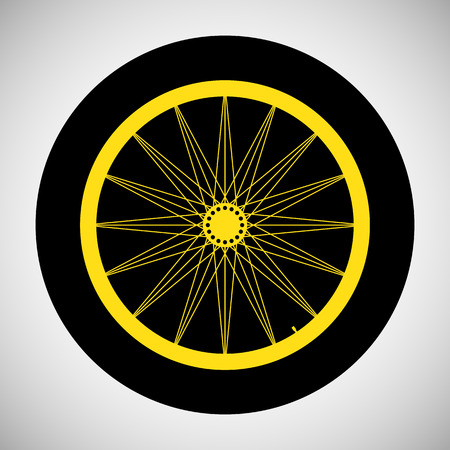 Bicycle Wheel Icon Illustration Illustration
