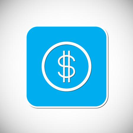 us coin: Icono de la moneda del dinero. Vectores