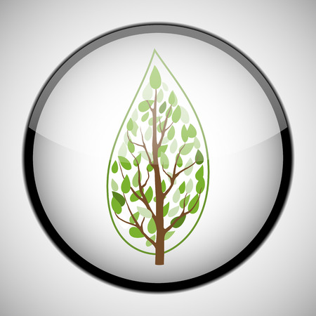Tree in circle frame Icon concept Illustration Illustration