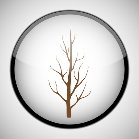 Dry tree in circle frame Icon concept Illustration