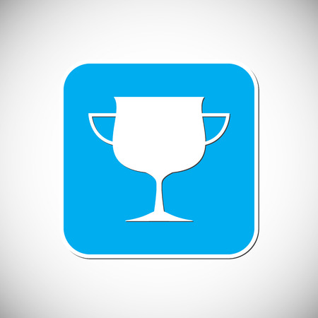Trophy icon Blue square frame illustration