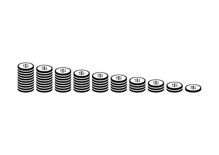 coin stack: Money coin stack Illustration