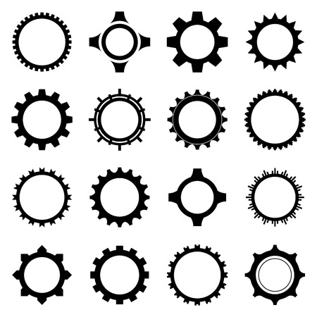 Gear icon set. Vector Illustration Vector