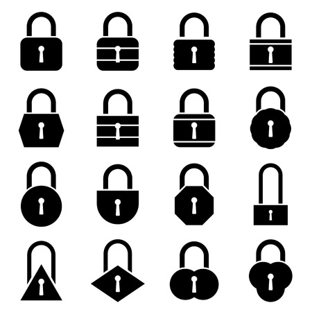 Lock icon set. Vector Illustration Vector
