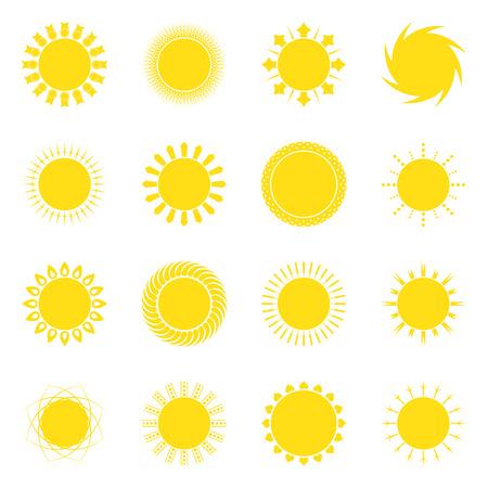 Sun icon set on white background vector illustration Vector