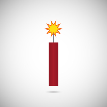 fire cracker: Red Vector Fire Cracker for Chinese New Year Illustration