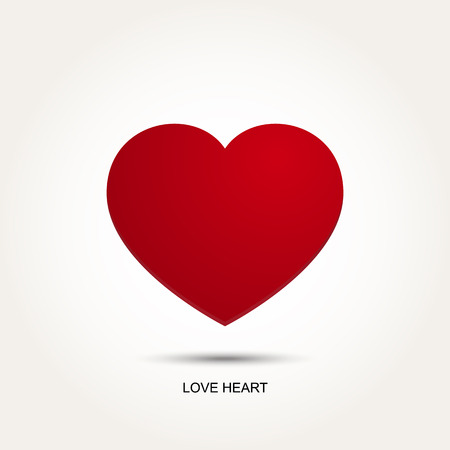 shape: Red Heart Vector Amour