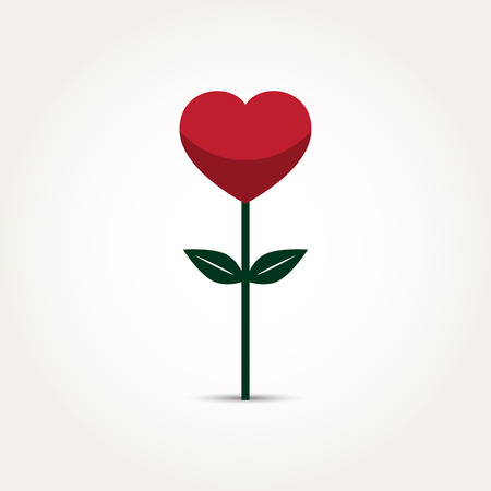 Vector Love Heart Flower Illustration Illustration