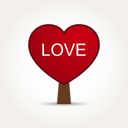 Vector Love Heart Tree Illustration
