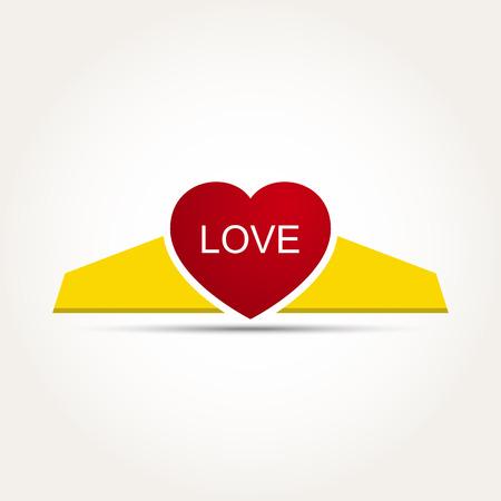 heart and crown: Vector Love Heart Corona Illustrazione