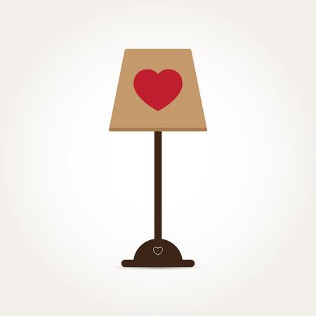 Vector Love Heart Lamp Illustration Illustration