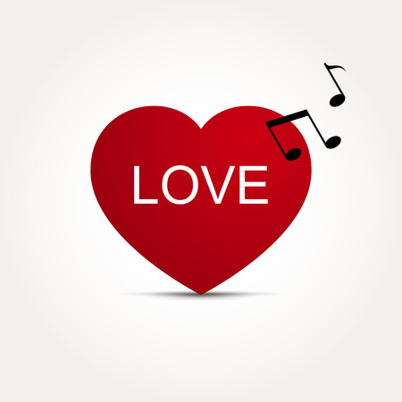 rhythm: Vector Love Heart Music Rhythm Illustration