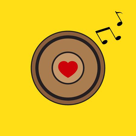 Vector Love Heart Speaker Illustration