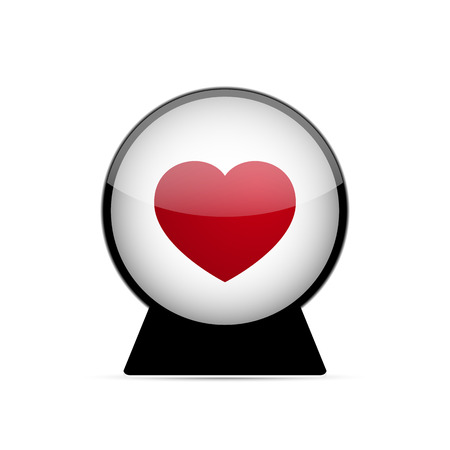 love dome: Vector Love Heart Dome on white background Illustration