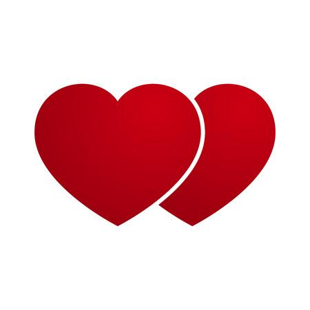 heart month: Vector Love Heart Couple Illustration
