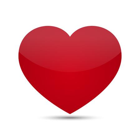 Red Vector Love Heart Illustration