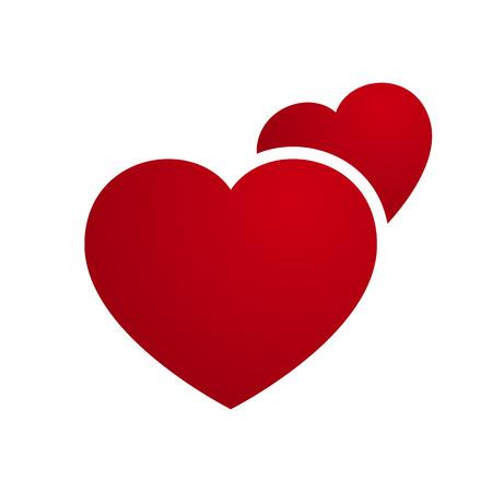 dva: Vector láska srdce pár ilustrace