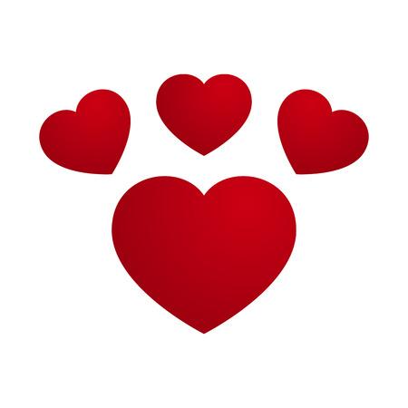 heart month: Vector Love Heart Footprint Design Illustration