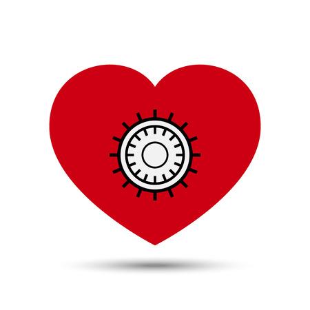 Vector Love Heart Safe Security Concept Illustration