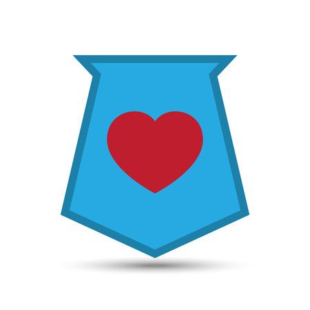 Vector Love Heart Shield on white background Illustration Illustration