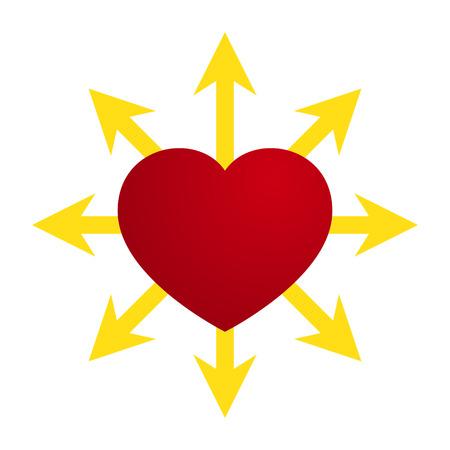 heart arrow: Vector Love Heart Arrow Design Illustration