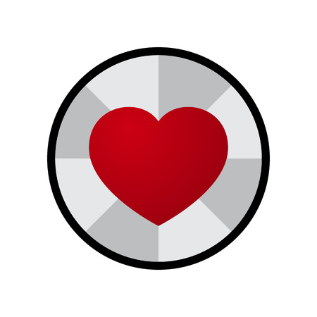 Vector Love Heart Circle Design Illustration Illustration
