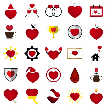 soul mate: The Vector Love Heart Illustration Set.