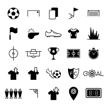 Soccer icons set vector illustration Vector