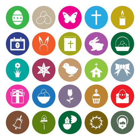 hairband: Easter icons set circle design vector illustration Illustration