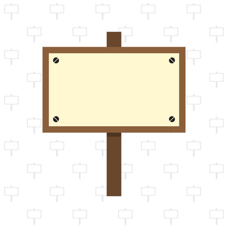 singn: Wooden sign on wooden singn pattern background vector illustration