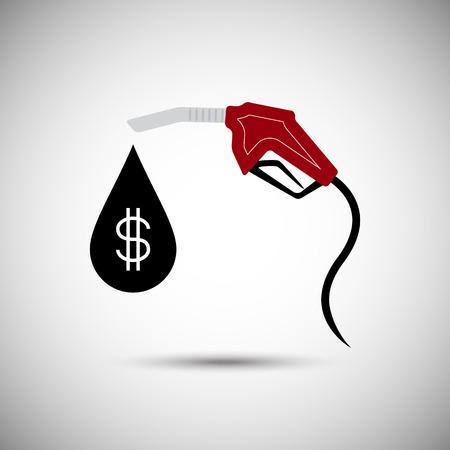 nozzle: Fuel nozzle with dollar sign drop  Illustration