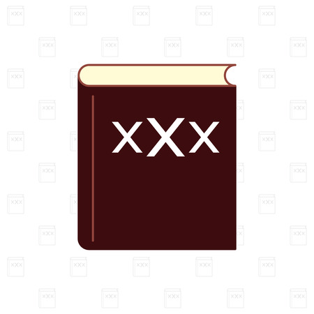 xxx: XXX sign on book with pattern background