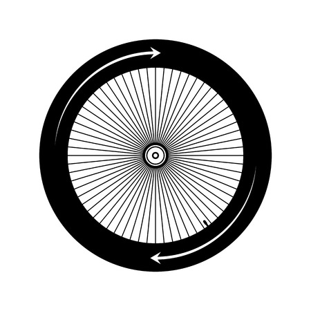 spoke: Bicycle wheel on white background