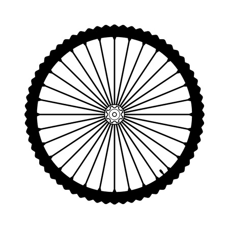 spoke: Bicycle wheel on white background