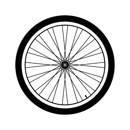 Bicycle wheel on white background