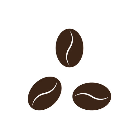 Coffee beans on white background vector illustration