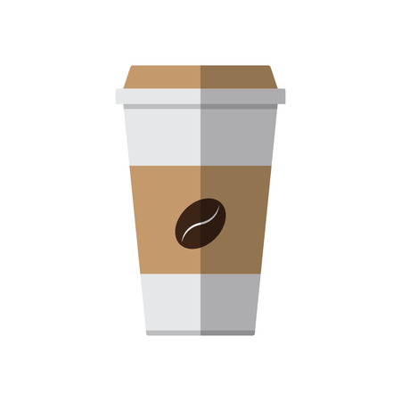 Coffee paper cup on white background vector illustration Illustration