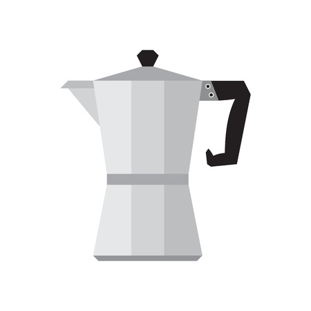 percolator: Coffee percolator on white background vector illustration Illustration