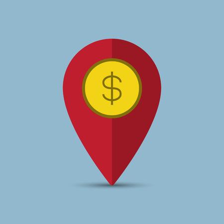 money pin business concept vector illustration Illustration