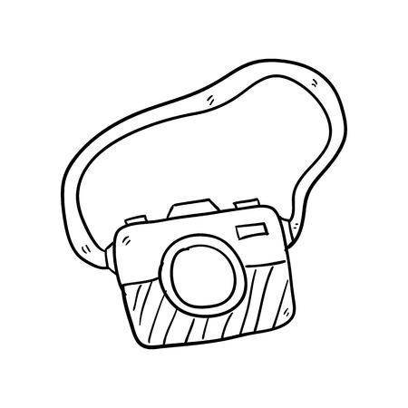 camera doodle sketch hand drawn vector illustration